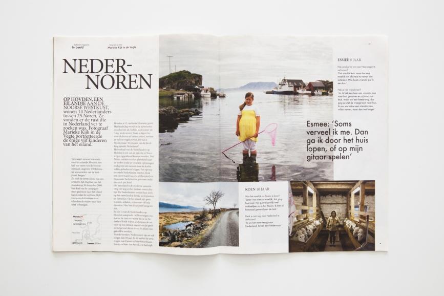Volkskrant Magazine publiceerde 'Nedernoren' Een eigen project over vijf Nederlandse kinderen op een Noors eiland.